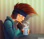 Ninja Morning Coffee Thoughts by Dillerkind