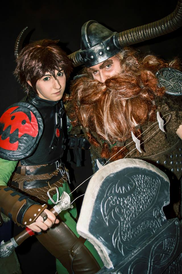 Hiccup and Stoick by Mitsuko-Vicious