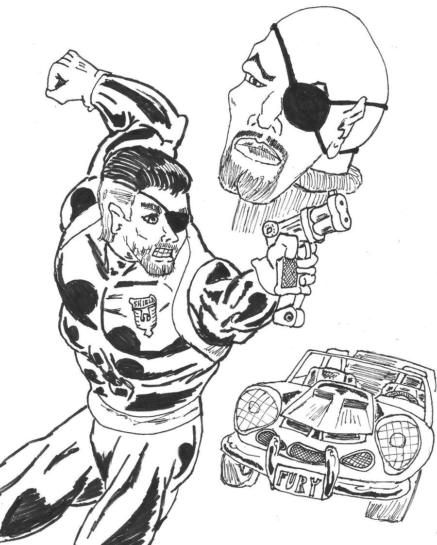 Free Nick Fury From Avengers Coloring Pages: Pin Colorearcolorear-net-dibujo-para-colorear-corazon
