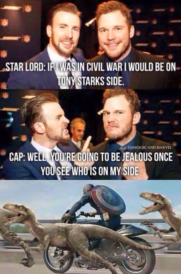 starlord civil war joke by Skaramine