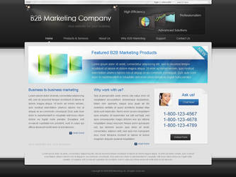 B2B Marketing Company Mockup