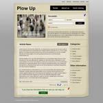 Old Paper Blog Design