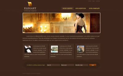Elegant webdesign template