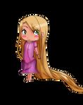 Chibi Rapunzel by kawaiiwolves