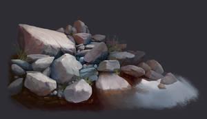 River rocks study by LeeshaHannigan