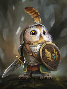Knight Owl by LeeshaHannigan