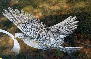 Peaceful Dove by GUDRUN355