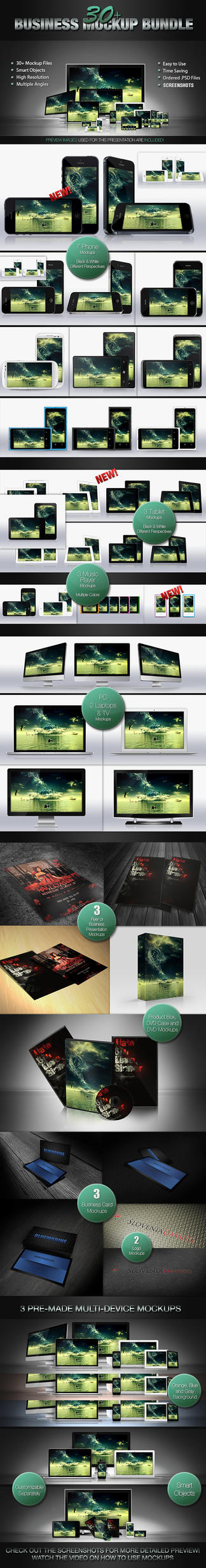 30+ Mockup Bundle by Jones500