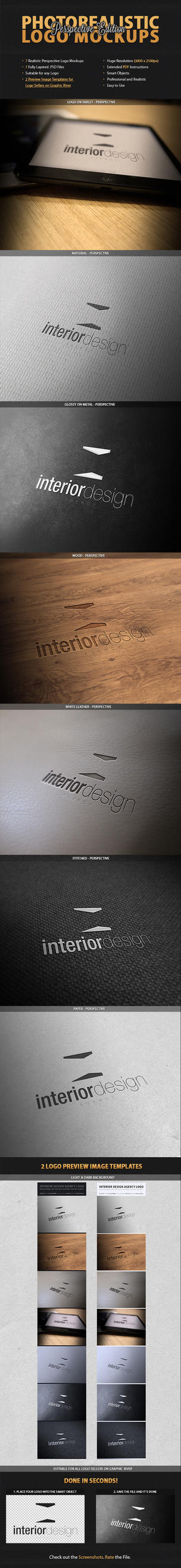 7 Perspective Logo Mockups by Jones500