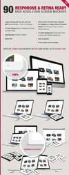 90 Responsive And Retina Ready Screen Mockups by Jones500
