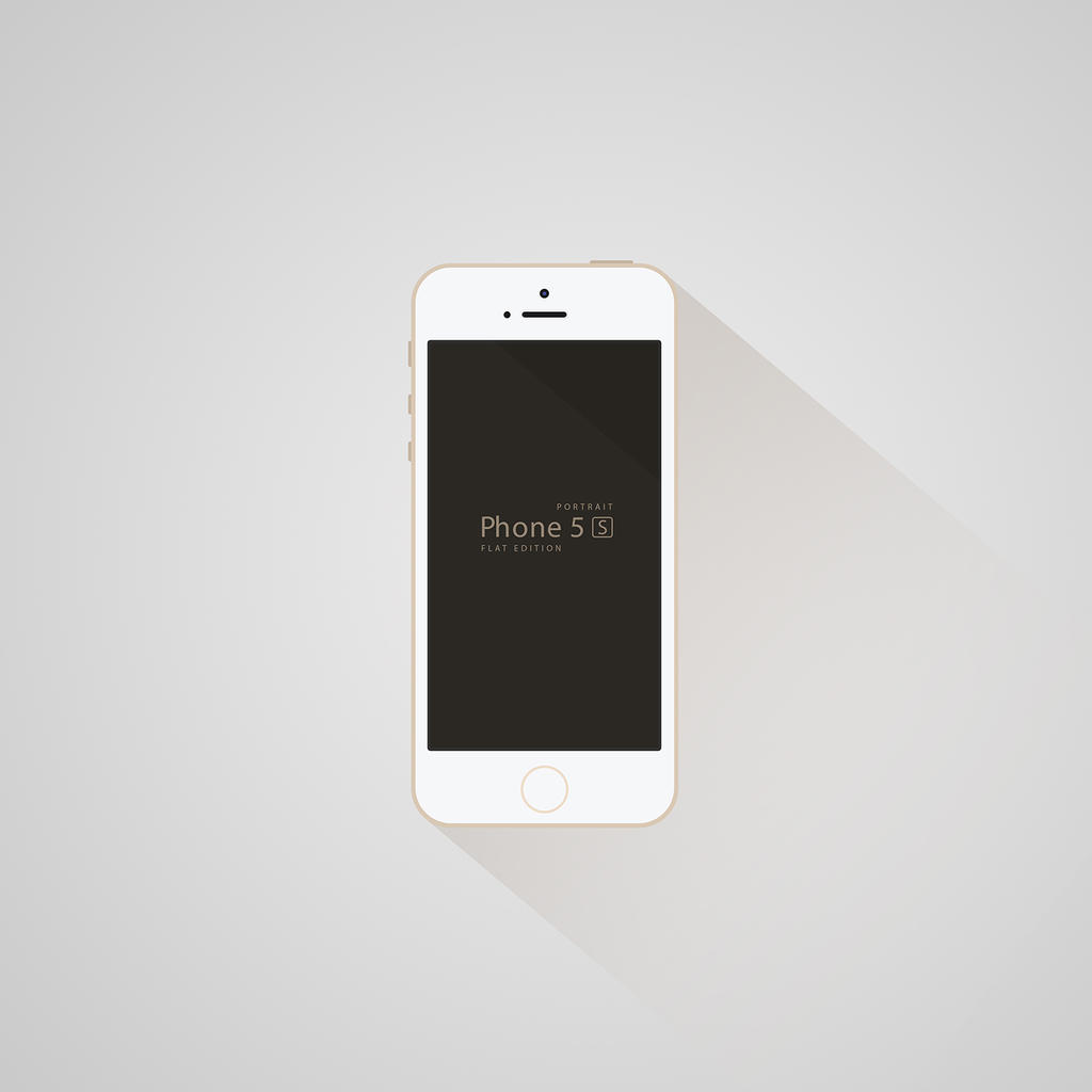 iPhone 5S - Flat Edition by Jones500 on DeviantArt
