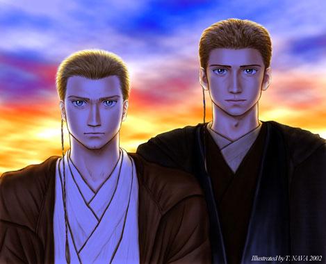 Coloured 'Two Padawans' by TokisadaNava