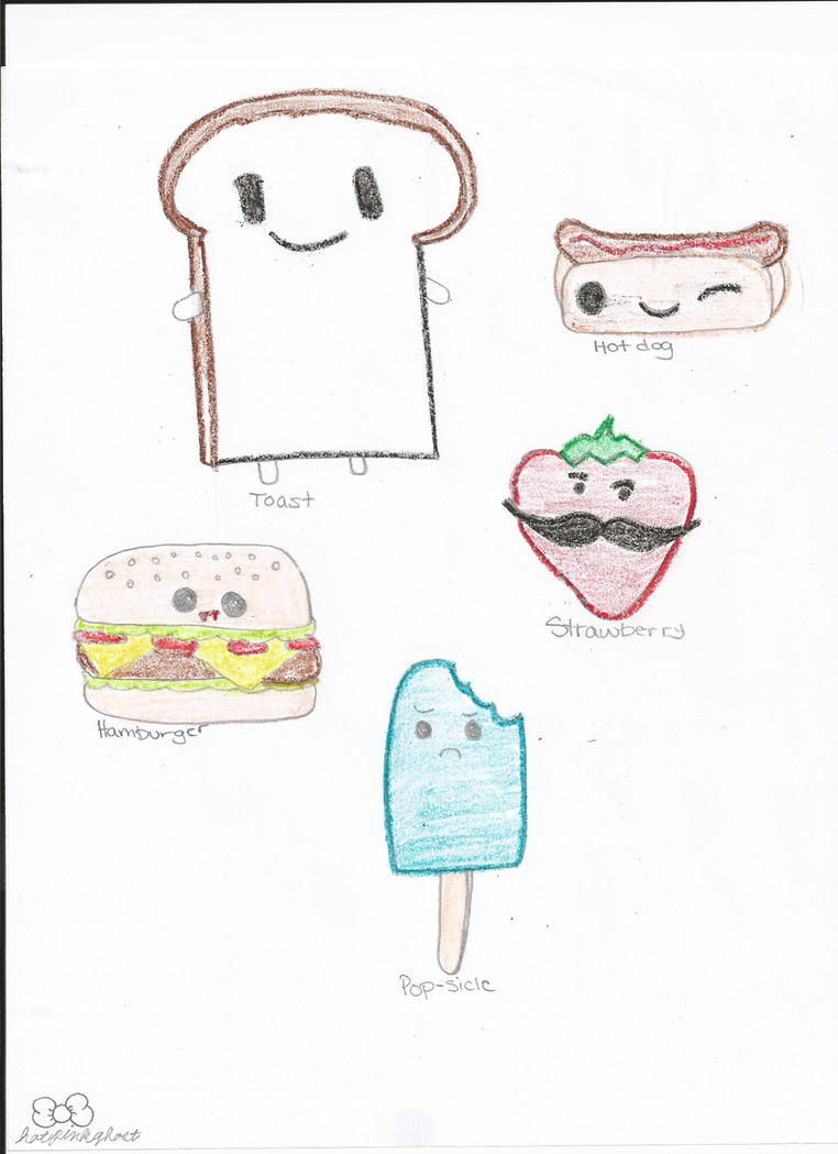 Food with cute faces by hotpinkghost on DeviantArt
