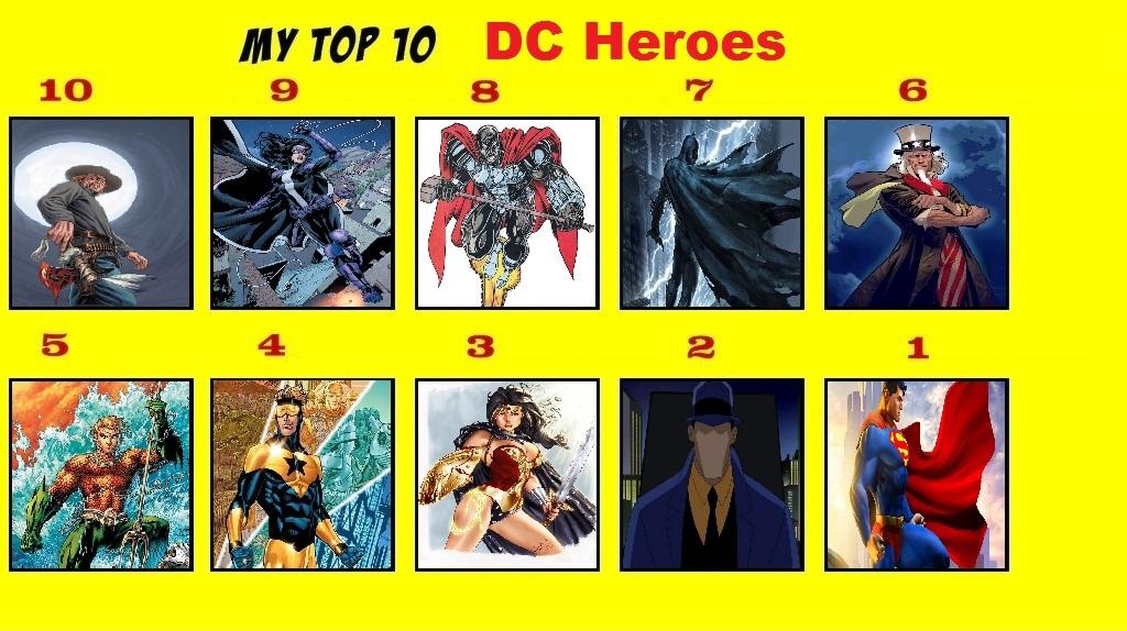 Top 10 DC Heroes by Tohokari-Steel on DeviantArt