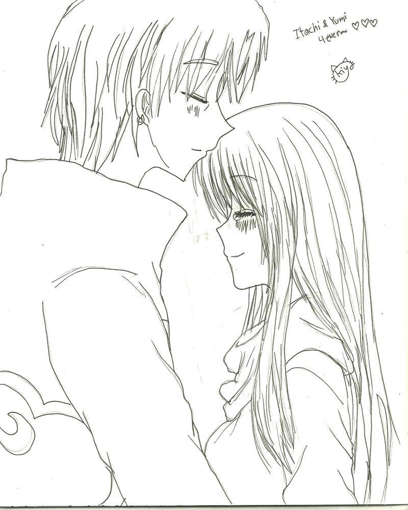 Itachi and Yumi by KiyaSparleVampire