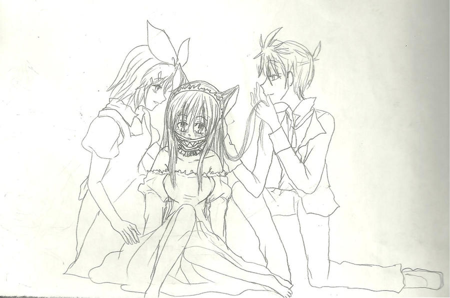 me , rin and len by KiyaSparleVampire