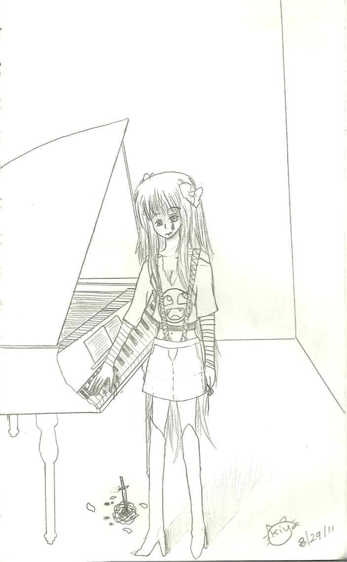 bloody piano by KiyaSparleVampire