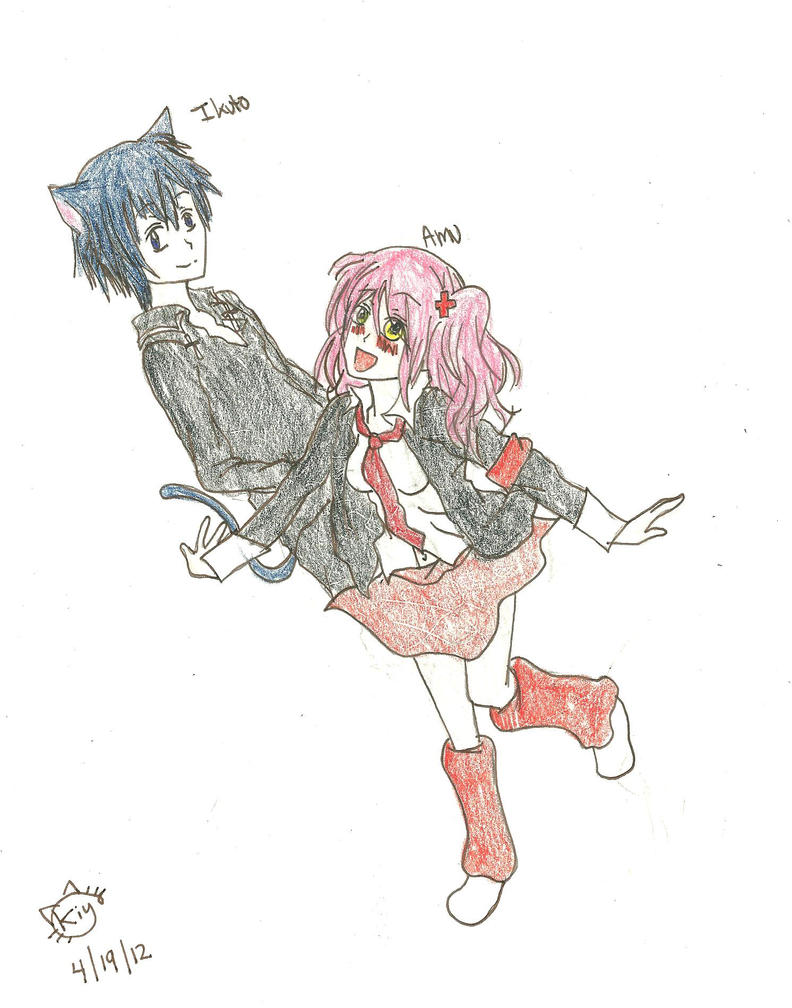 ikuto and amu-chan~ by KiyaSparleVampire