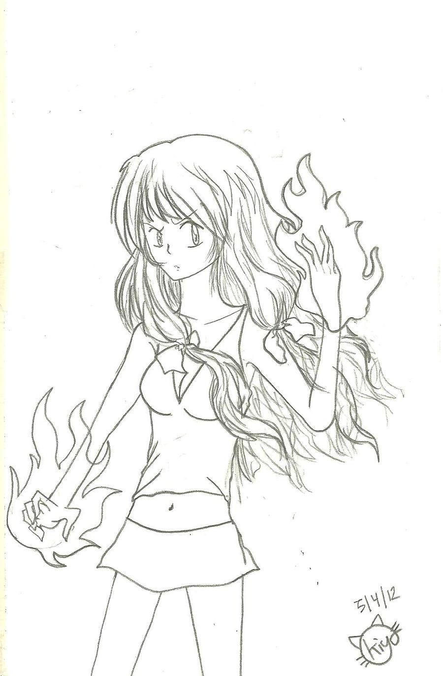 kyoko fire by KiyaSparleVampire