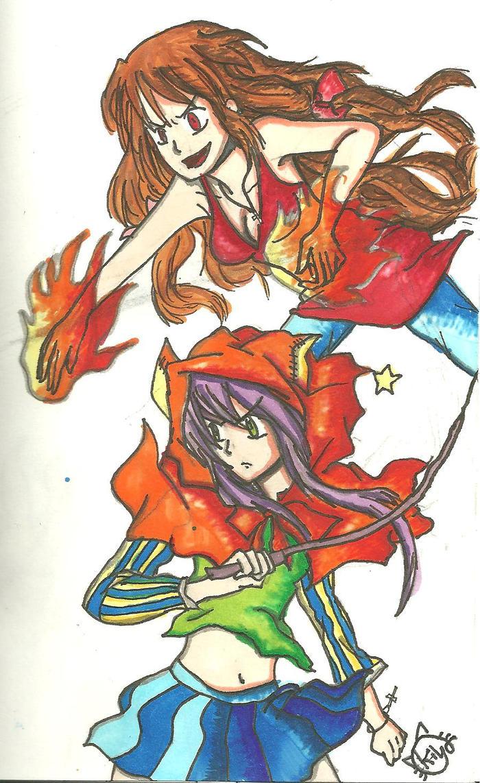 the two Kyoko's by KiyaSparleVampire