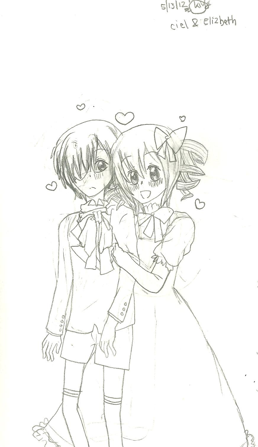 Ciel and Elizebeth by KiyaSparleVampire
