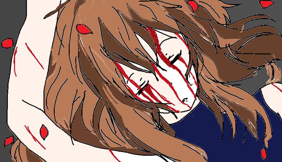 Yumi's tears of Blood.. by KiyaSparleVampire