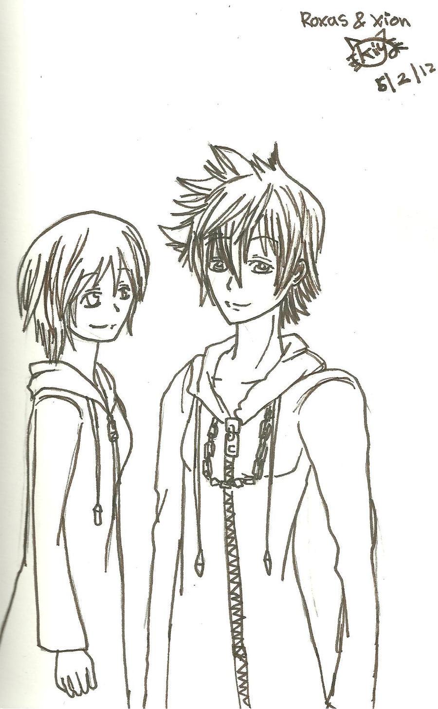 Roxas and Xion by KiyaSparleVampire