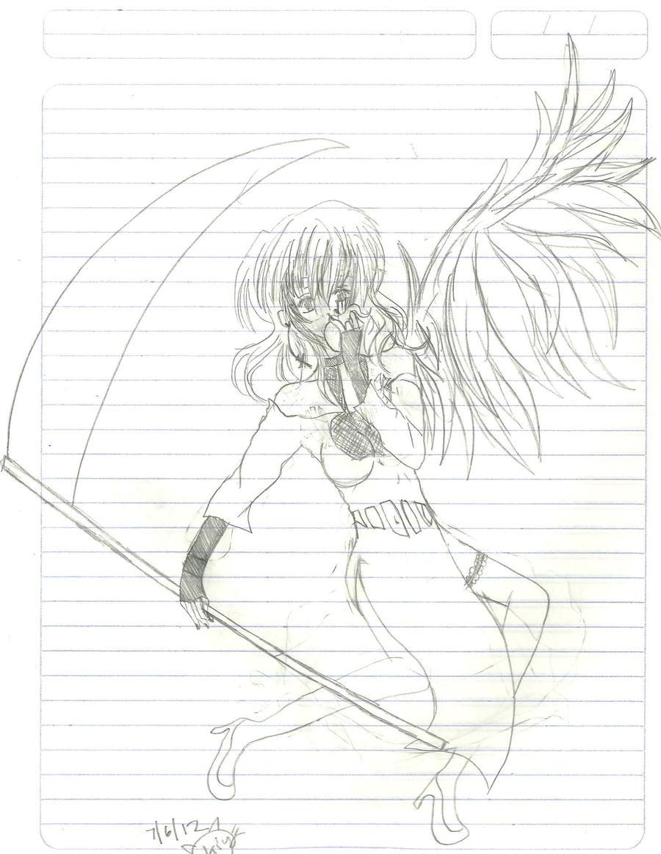 Black Angel by KiyaSparleVampire