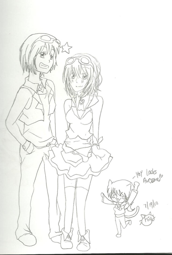Gumi and Gumo by KiyaSparleVampire