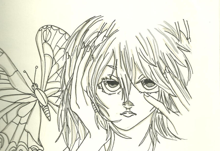 Butterfly on Right shoulder MIKU by KiyaSparleVampire