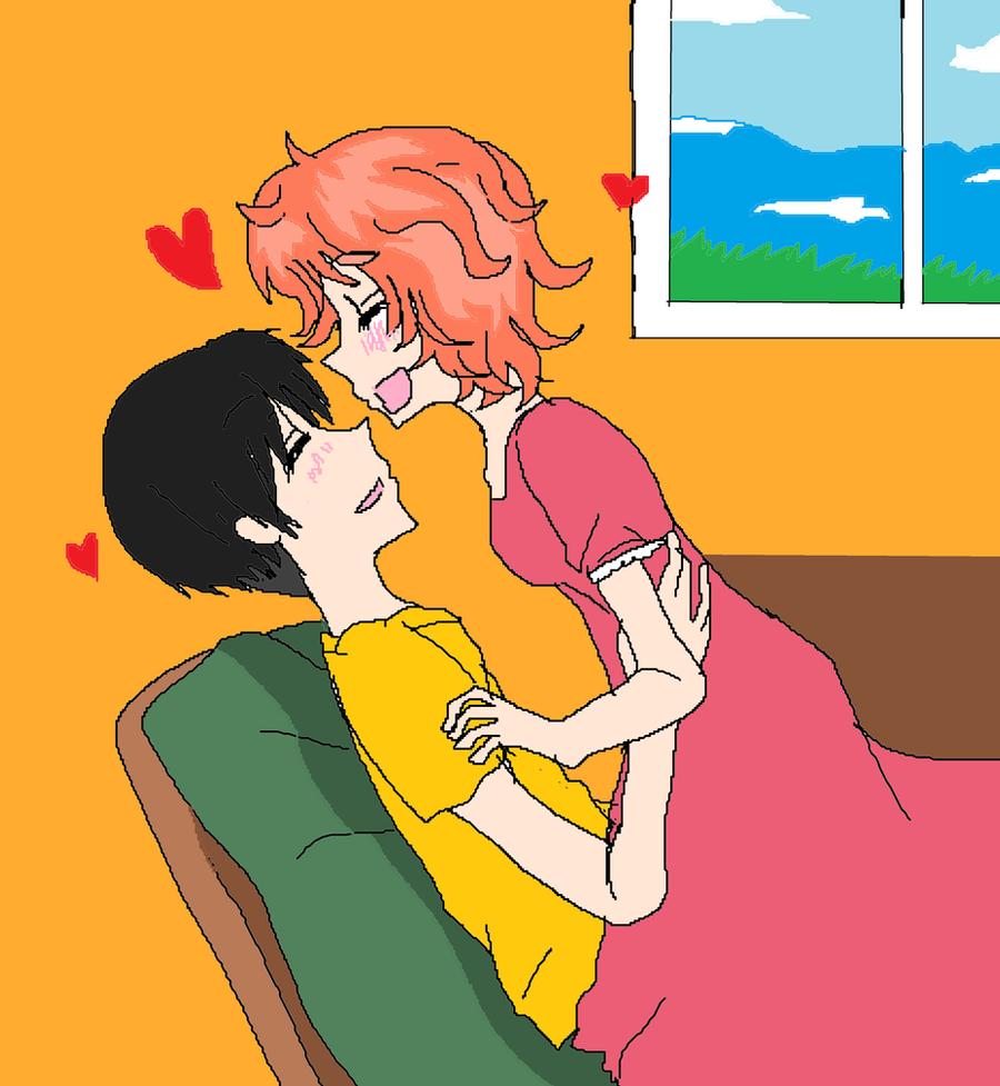 Ponyo and Sosuke by KiyaSparleVampire