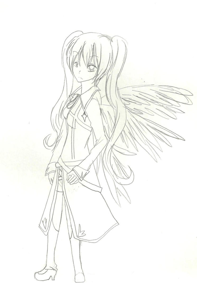 Black angel Makoto by KiyaSparleVampire