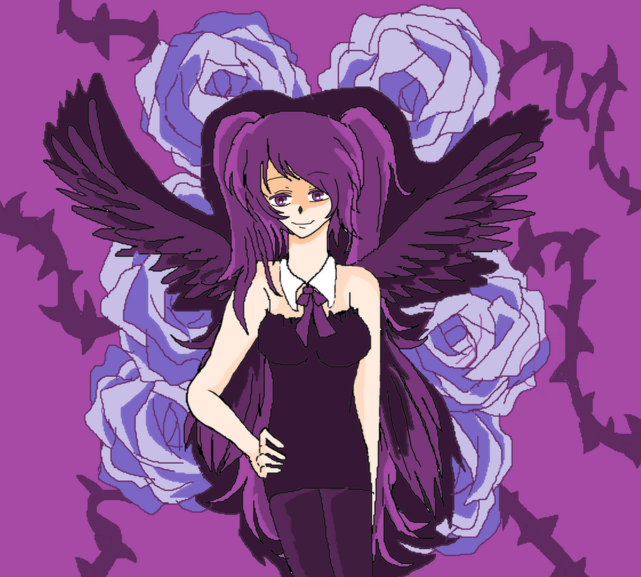 Sexy Purple Angel by KiyaSparleVampire