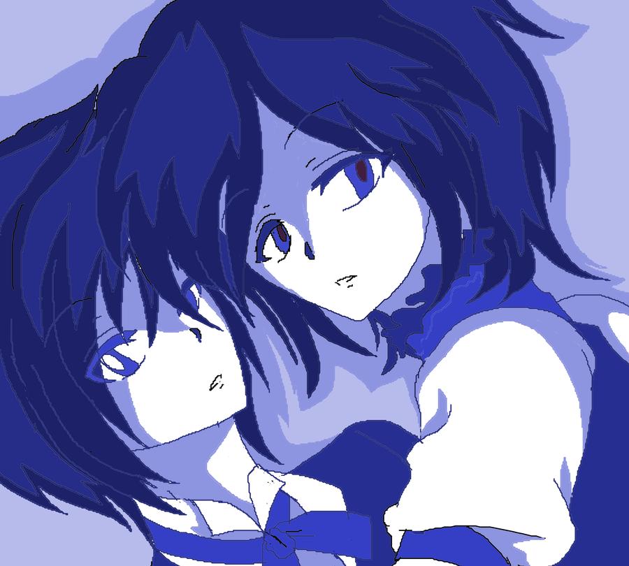 Blue Twins by KiyaSparleVampire