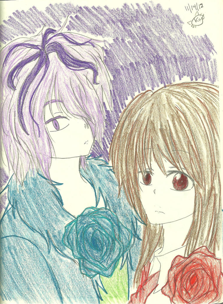 Garry and Ib's roses by KiyaSparleVampire