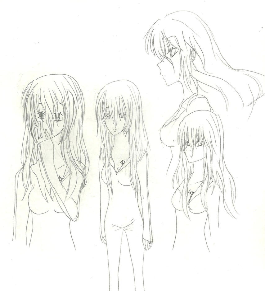 Mako Sketches by KiyaSparleVampire
