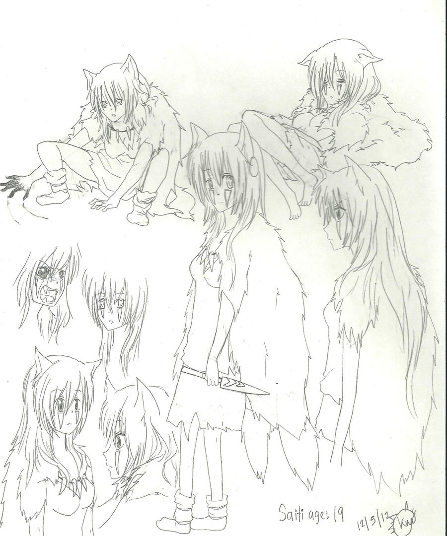 Saito's sketches~ by KiyaSparleVampire