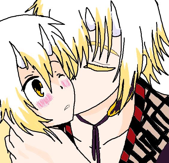 Kazma and chizuru by KiyaSparleVampire