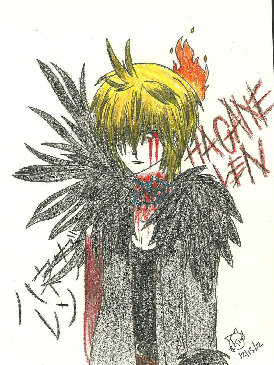 Hagane Len Dark Angel~ by KiyaSparleVampire