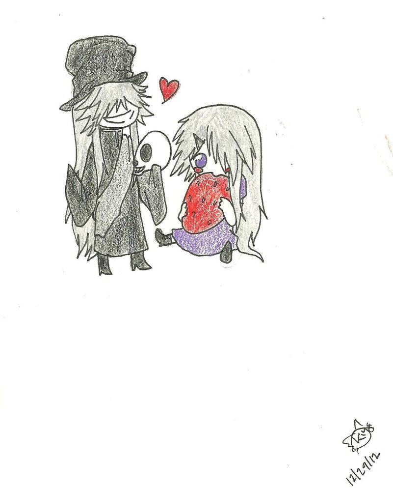 Chibi Undertaker and Anna by KiyaSparleVampire