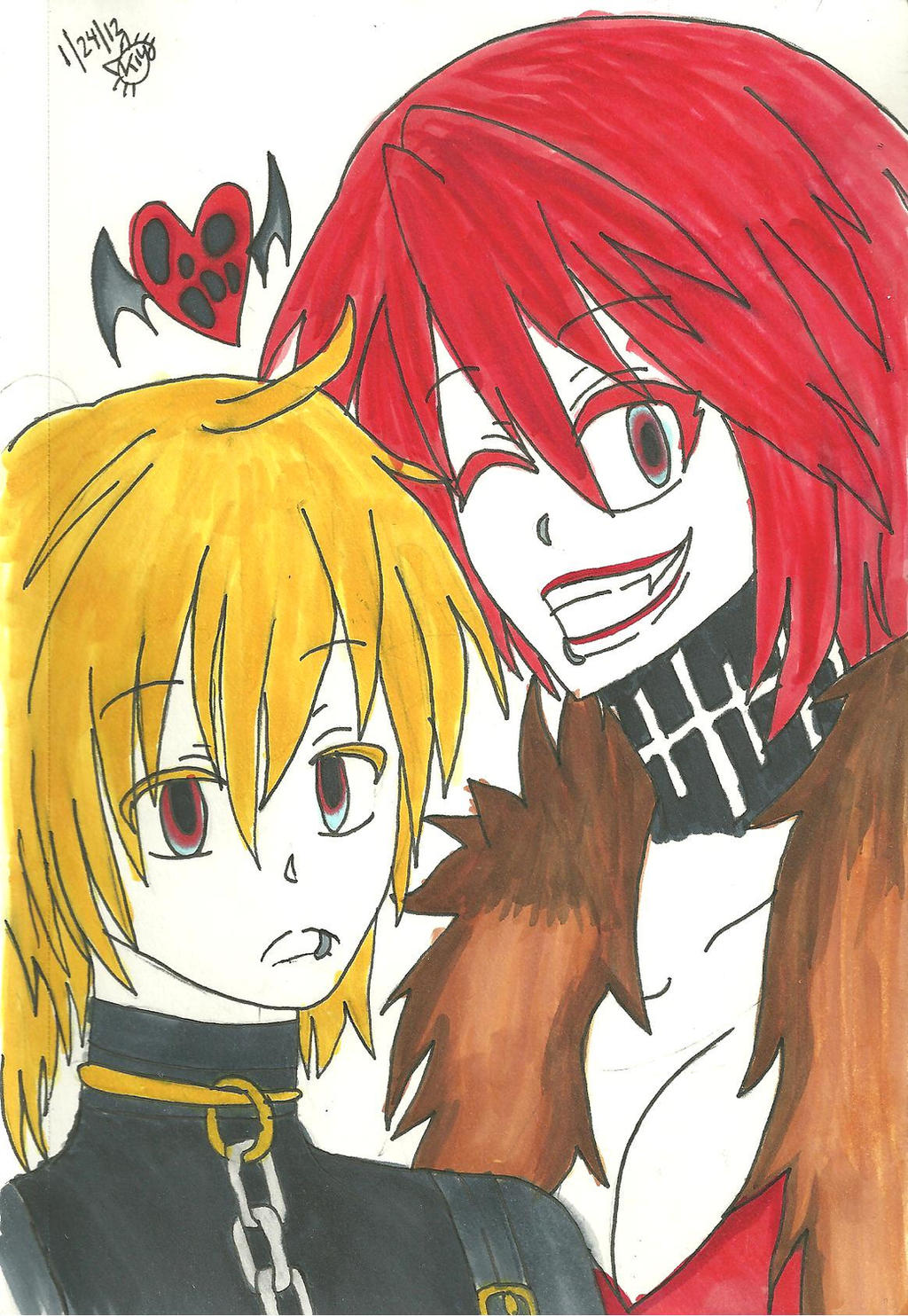Hagane Len and Meiko best buddies~ by KiyaSparleVampire