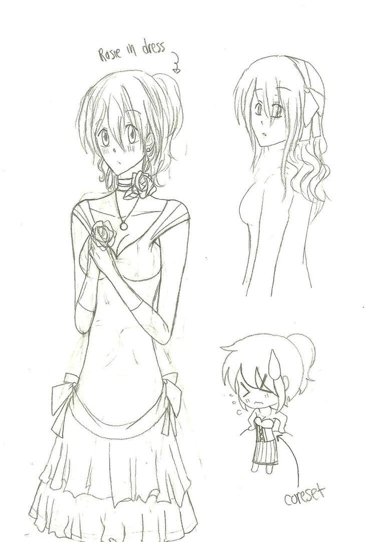 Roise in her dress by KiyaSparleVampire