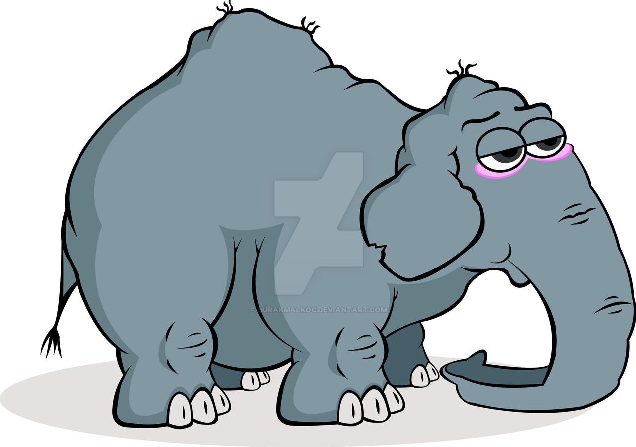 cartoon elephant by burakmalkoc on deviantart