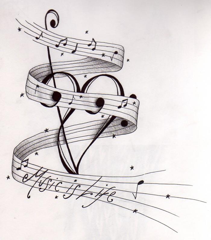 Line Drawing Music : Simson tattoo