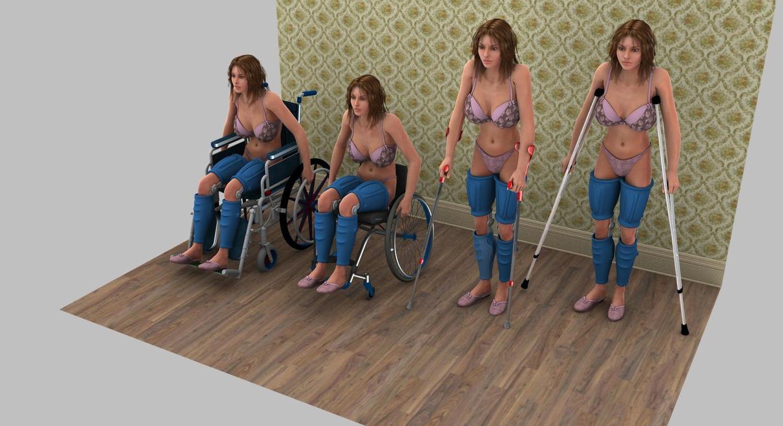 Render test. Leg Braces by devoart2012