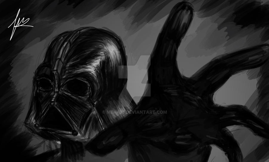 Darth Vader Speed Sketch by mekk33