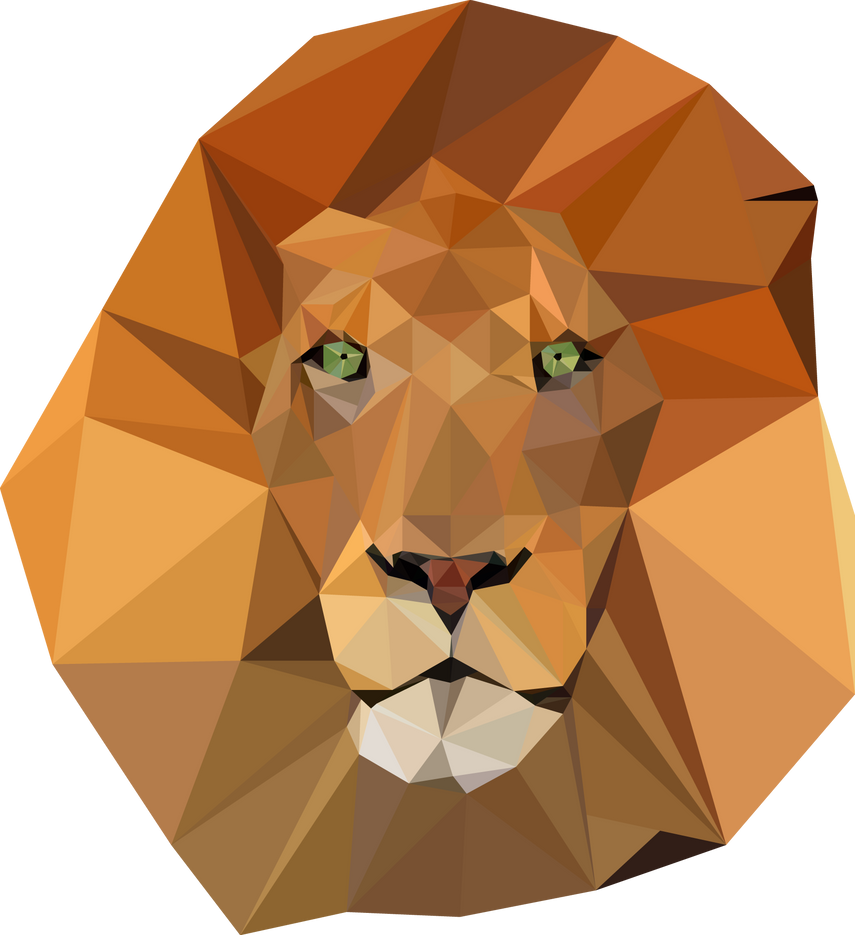 Polygonal Lion by AndreMartinez