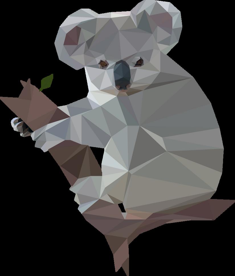 Polygonal Koala by AndreMartinez