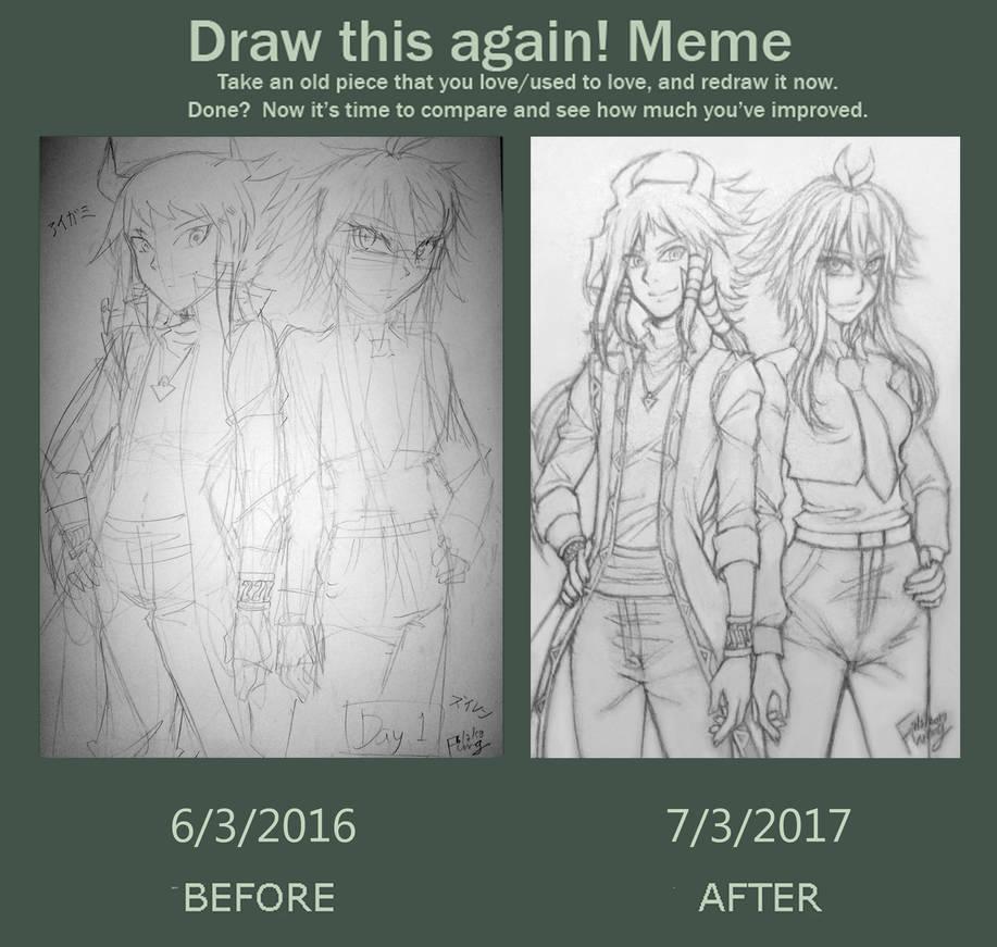 Draw This Again Meme Aigami and Zuiren