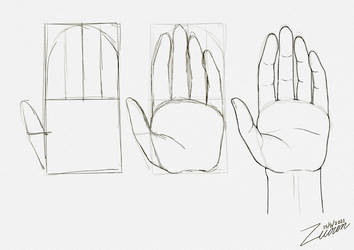 Draw a hand with schmoedraws Practice 2021